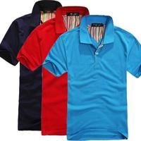 New spring and summer men's T-shirt high quality brand men short sleeve T-shirt lapel