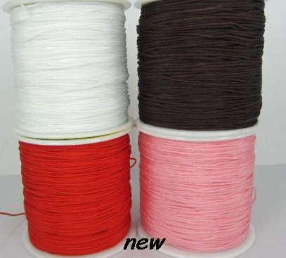 can choose color black mixed 1.5mm 2mm nylon 160M/175yards/lot Chinese knot tread Shamballa cord String Nylon Rope(China (Mainland))