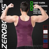 Fast Shipping ZEROBODYS Incredible Men's Body Shaper Firming Panels 140D Vest 107 PU Men Shapewear Hot Shapers Weight Loss Gilet