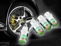 4pcs/lot Auto Car tyre Tire Pressure Monitor Indicator Valve Stem Cap Sensor 3 Color Eye Sensor Indicator Alert car Tools Kit