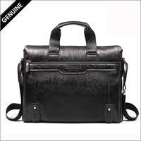 Wholesale Lowest Price New Zipper PU Leather Men Shoulder Bag Casual Cowhide Man Commercial Handbag Messenger Briefcase NO847