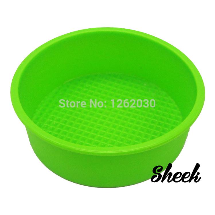 Free shipping !!! 8 inch High quality 100% Food Grade Silicone Cake pan/Pizza Cupcake Pan Big Round Bakeware DIY Mold(China (Mainland))