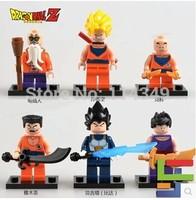 Wholesale 6pcs/lot popular girls and boy doll block set assembled DIY cartoon Dragon Ball 701-706