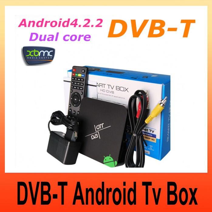 Android DVB T XBMC preinstalled Android 4.2.2 set top box Google Aml8726-MX Dual core android tv box DVB-T Media Player(China (Mainland))
