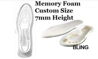3pairs/lot Massage Sport Insole Shoe Taller Pads Memory Foam For Flatfoot Women Men OPP Bag Pkg As Seen On TV Hot Sale