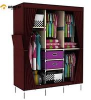 Large fashion curtain triad combination Add cloth wardrobe drawer