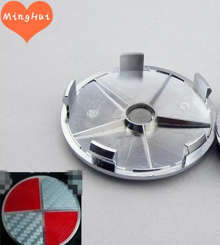 Car Red Carbon Fiber emblem sticker modified s Front Emblem + Rear Emblem + 4 Wheel Hub Cap + steering wheel emblem 7pcs/lot(China (Mainland))