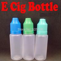 100pcs Plastic Needle Bottle PE 20ml Electronic Cigarette ego E Cig ce4 With Childproof Cap Empty Dropper Bottles Free Shipping