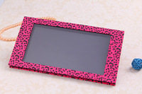 Free Shipping! Hot pink Leopard Print Lager size Empty magnetic palette blank diy magnetic makeup palette - Easy Pad 6pc/lot