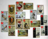 30*20cm Tin Paintings, Upscale Cafe/Restaurant/Living Room/Bedroom/Bathroom European Fashion Decorative Mural Strap