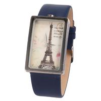High Quality Eiffel Tower Vintage Wristwatch Genuine Leather Strap Women Casual Watch Japan Quartz Retro Clocks FFN006