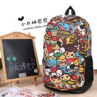 2014 Women Fashion Cartoon Bag Cute School Knapsacks For Teenage Girl Unique Brand Designer Printing Canvas Girls Backpack  BG29