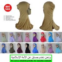 Muslim long split design hijab,underscarf,inner cap,free shipping