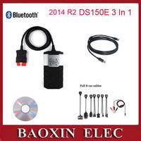 2014 02 R2 Car diagnostic tool CDP Pro Plus New VCI De1ph1 DS150E with Bluetooth+keygen car scanner+full set 8 car cables