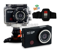 WDV5000 Gopro Hero3 Style Sport Action Camera DVR Wifi Camera 1080P Full HD with Watch Remote + Extra 1pcs battery