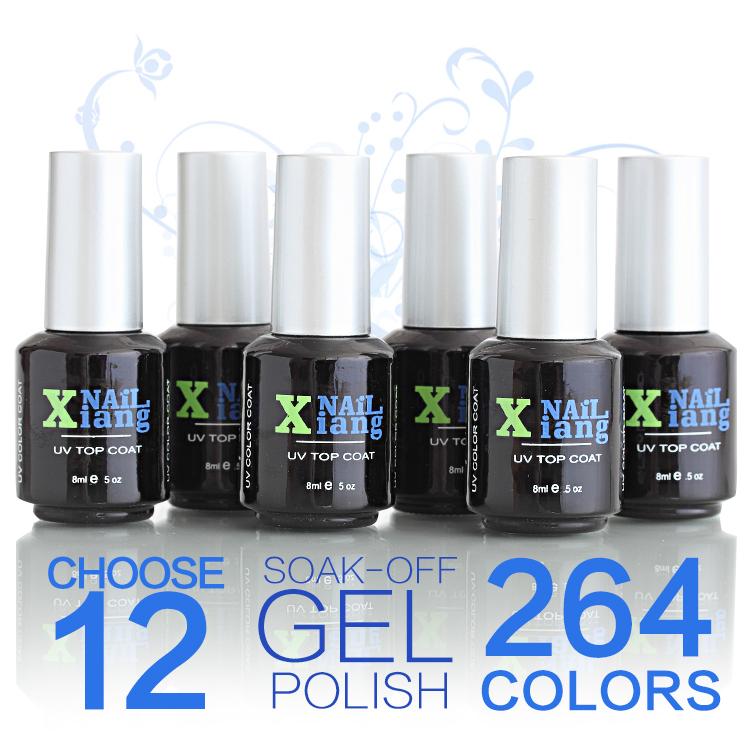 Soak Off 1Primer Base+1Top Coat + 10 Color LED UV Gel Nail Polish,Gel Lacquer For Nail gel nail tool(China (Mainland))
