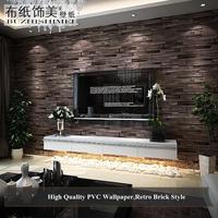 3D brick wallpaper vintage, PVC wall paper brick for living room