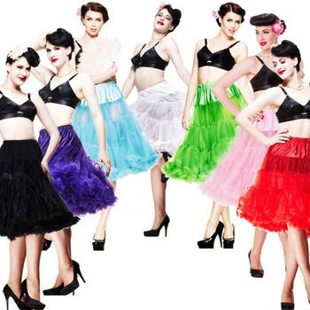 2014 Женщины Soft Материал 65cm Длинный Sexy Шифон Petticoat Rockabilly Pettiskirt ...