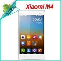 Xiaomi M4 mi4 Original Phone WCDMA Qualcomm Quad Core 2.3GHz Cell Phone 2GB RAM 64GB ROM 5'' 1080p 13mp Camera  Smartphone