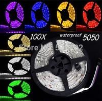 500M led strip SMD5050 led bar light DC12V 60led/M   waterproof IP65  indoor decoration light white/warm white Free Shipping