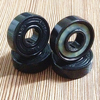 Free shipping Steel 608 2RS Drift Skateboard Bearings abec-9 Black seal ceramic balls Scooter parts wheel bearings Carbon steel
