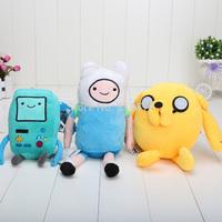 3pcs/lot Cartoon Toy Anime Adventure Time Finn Jake Beemo BMO soft figure plush doll