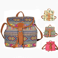 2014 new arrival women printing backpack canvas student backpack small travel bags for girl free shipping