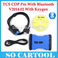 2014 Quality A+ TCS CDP 2014 R2 Free Keygen Tcs cdp pro with bluetooth Multi-language+ Carton box DHL Free Shipping
