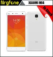 Stock! Xiaomi Mi4 Original phone 5 inch Snapdragon 801 Quad Core 3gb RAM 64gb/16gb ROM 3G WCDMA mobile phone 13MP Free Gift