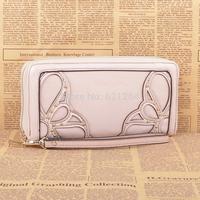 2014 new sweet flowers clutch zipper purse portefeuille femme