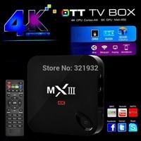 1pc Rooted MXIII 2G 8G Amlogic S802 Quad Core TV Box XBMC Gotham Android 4.4 Kitkat  2.4G&5G Dual Wifi  2G Ram 8G Rom BT 4.0
