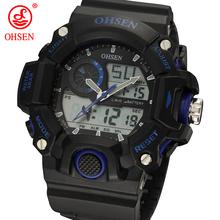 2014 New Fashion Men Multifunction Sports Watches Analog Digital LED Dual Core Quartz Casual Wristwatch Dive