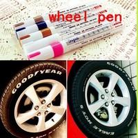 hot sale  tyre glos Permanent Waterproof Car Tyre Tire Metal Paint Marking Pen Marker Motor Bike Whi Free shipping & wholesale
