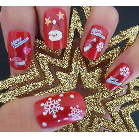 DIY Nail Sticker Art Transfer Foils Stickers Super Beautiful Nail Gel Polish Wrap Christmas Styling Tools Mixed Designed FC344(China (Mainland))