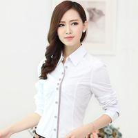 New Arrive Good Quality Women's Formal Shirt Ladies Elegant Work Wear Blouses Plaid Patchwork Fashion Tops