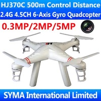 HJ370 HJ370C 500m Control Range 2.4G 4CH 6-Axis GYRO With 0.3MP 2MP 5MP Camera FPV RC Quadcopter UFO Ar.Drone VS XX X47 WL V353