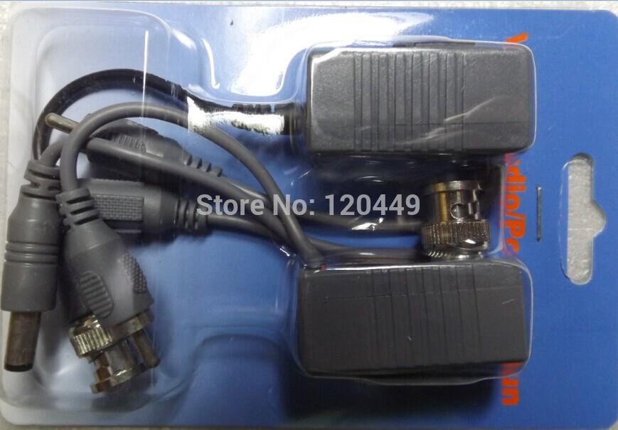 BNC Video Balun Audio Power 4Pairs CCTV Audio Video Balun UTP twisted pair Power Transceiver(China (Mainland))