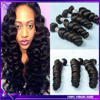 Loose wave peruvian virgin hair 3pcs/lot ali moda hair peruvian loose wave unprocessed peruvian human hair weave free shipping