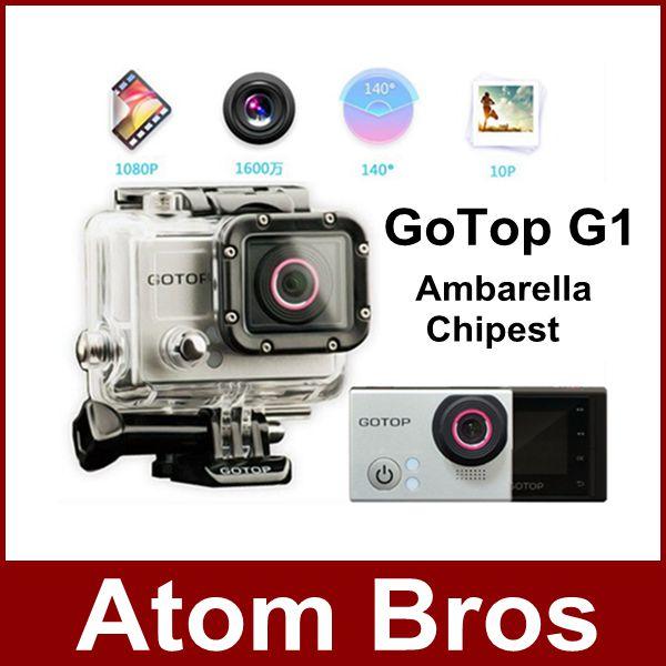Mini Camcorder GoTop G1 Full HD 1080P Action Camera Ambarella Chipest 60M Waterproof Sport Camera Gopro SJ4000 Like GPS(China (Mainland))
