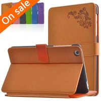 "Luxury Print Flower PU Leather Stand Case Cover For Lenovo A8-50 A5500 8"" Tablet"