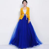 Sale Women Chiffon Long Skirt High Waist Pleated Maxi Skirt With Bow Floor Length Beach Party Sheer Skirts S145811