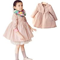 Girl Fashion Trench Coat : Baby Girls Party Wear Spring Autumn Outwear kids Cotton Long Sleeve Trench Jacket Sale Windbreaker