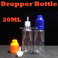 Empty E Cig Oil Bottle PET 20ML Plastic Dropper Bottles With ChildProof Cap For E eGo ce4 Liquid Bottle Wholesale 2500pcs/lot