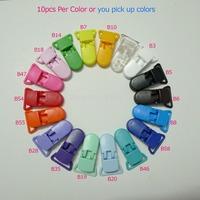 """130pcs 13 Colors Mix 3/4"""" 20mm Wide Plastic Suspender Clips"""