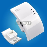 Lowest Price!!US Plug Wireless-N Wifi Repeater 802.11n/g/b Network Router Range Expander 2dBi Antennas 300M B003 SV001078