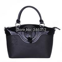 Fashion women's handbag aj bag japanned leather PU Women bag patent leather fashion popular handbag