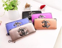 MONEY HOT Sale purse 1X 2014 new wallet casual desigual pu leather small fragrant wind metal foot women handbag wallets