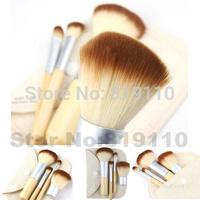 4pcs Brand new Bamboo Make Up Brushes set Powder Eye Shadow  Blush Concealer Makeup Brush  Professional Facial Cosmetic Tools