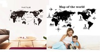 DIY World Trip MAP Removable Vinyl Quote ART Wall Sticker Decal Mural Decor NEW 2 type
