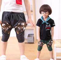 Summer fashion kids boys tiger print calf length harem shorts pants drop-crotch 2 colors 2-6 Year